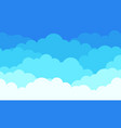 cloud pattern background flat white clouds vector image vector image