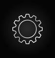 cog or gear icon cogwheel linear sign vector image vector image