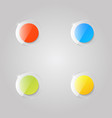 colored glass buttons on a gray background vector image vector image