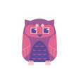 cute sitting owl - wild predator bird with funny vector image vector image