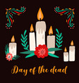 day dead traditional holiday card decorated vector image