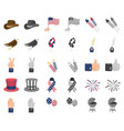 day of patriot holiday cartoonmonochrom icons in vector image vector image