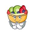 devil fruit tart mascot cartoon vector image