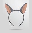donkey ears mask vector image vector image