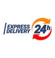 express delivery symbol vector image vector image