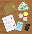 financial accounting and verification vector image vector image