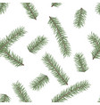 Fir branch seamless pattern winter holiday decor
