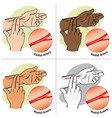 first aid person measuring pulse radial artery vector image vector image