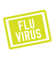 flu virus stamp on white vector image vector image