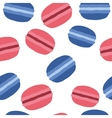 French macaroons dessert Pattern on a white vector image