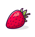 fresh strawberry icon isolated on white vector image vector image
