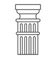 greek column icon outline style vector image vector image