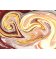 hand drawn artwork on water marble texture liquid vector image vector image