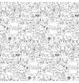 Hand drawn North America seamless pattern vector image