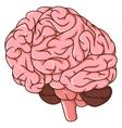 human brain clots cartoon vector image vector image