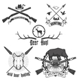 hunting club2 vector image vector image