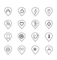 icons black and white icons online store icon vector image vector image