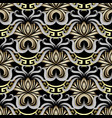 intricate ornate greek seamless pattern gold vector image vector image