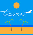 jet airplane writing a word tours vector image