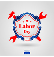 Labor day icon on grey background vector image