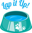 Lap It Up vector image vector image