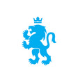 lion and crown heraldic royal icon vector image