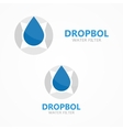 logo combination of a compass and water vector image