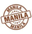 manila brown grunge round vintage rubber stamp vector image vector image