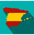 Map of Spain in Spanish flag colors icon vector image vector image