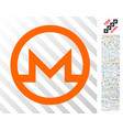 monero symbol flat icon with bonus vector image