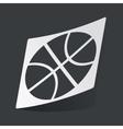 Monochrome basketball sticker vector image vector image