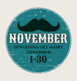 moustaches poster round or circle sticker for vector image vector image