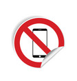 no mobile phone sticker vector image vector image