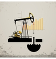 oil pump jack vector image