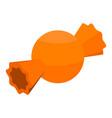 orange bonbon icon isometric style vector image vector image