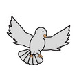 peace dove icon vector image vector image