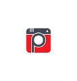 photography theme logotype vector image