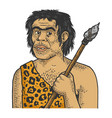 primitive caveman sketch vector image