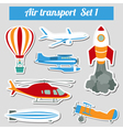 Public transportation air transportation Icon set vector image vector image