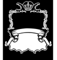 royal crown vintage vector image vector image