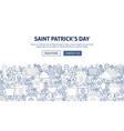 saint patrick banner design vector image