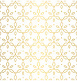 seamless pattern with gold ornament texture vector image