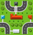 seamless repeating urban pattern vector image