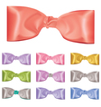 Set of colorful bows vector image vector image