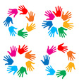 Set of Hand Print icons vector image