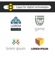 Set of logos for games and digital technology vector image