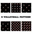 Set seamless pattern volleyball ball vector image vector image