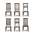 set wooden chairs vector image vector image