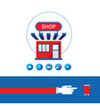 shopping process shop buy and sell your products vector image