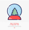 snow globe thin line vector image
